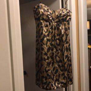 Donna Ricco Silk animal print bubble dress